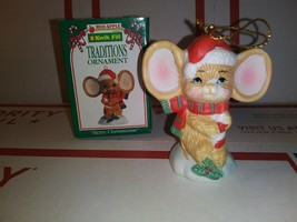 1995 Kwik Fill Traditions Ornament Merry Christmouse Gas Station Christm... - $3.79