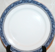 "Blue Mist 8.25"" Salad Plate Platinum Trim Bone China Made in England by Aynsley image 2"