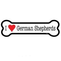 "I Heart (Love) German Shepherds Dog Bone Car Magnet  2""x7"" USA Made Wate... - $4.99"