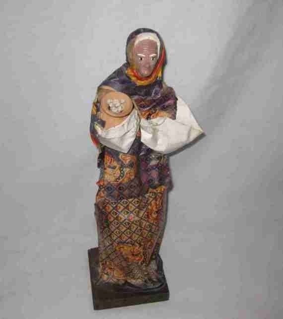 "Wonderful Vintage 13"" Foreign WOMAN Doll"