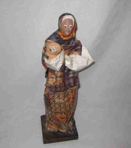 "Wonderful Vintage 13"" Foreign WOMAN Doll - $46.26"
