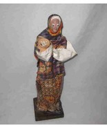 "Wonderful Vintage 13"" Foreign WOMAN Doll - $46.26"