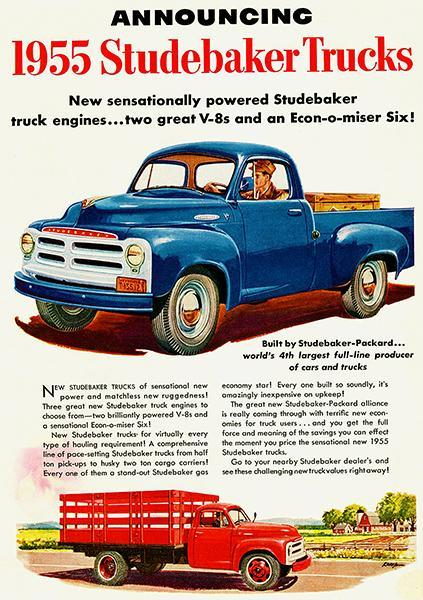 Primary image for 1955 Studebaker Truck - Promotional Advertising Poster
