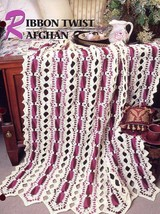 Ribbon Twist Afghan Annie's Attic Crochet PATTERN NEW 30 Days To Shop & ... - $2.67