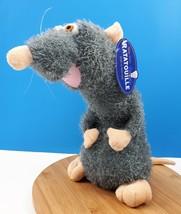"Disney Pixar Ratatouille REMY Rat Gray Fuzzy Toy Factory 12"" Excellent C... - $21.59"