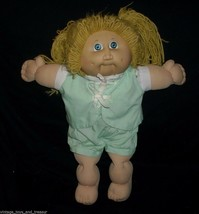 Vintage Cabbage Patch Kids Baby Doll Girl Blonde Hair Stuffed Animal Plush Toy T - $32.73
