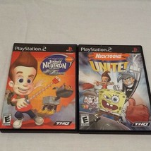 Nicktoons Unite & Jimmy Neutron Boy Genius: Jet Fusion (Playstation 2) - $8.79
