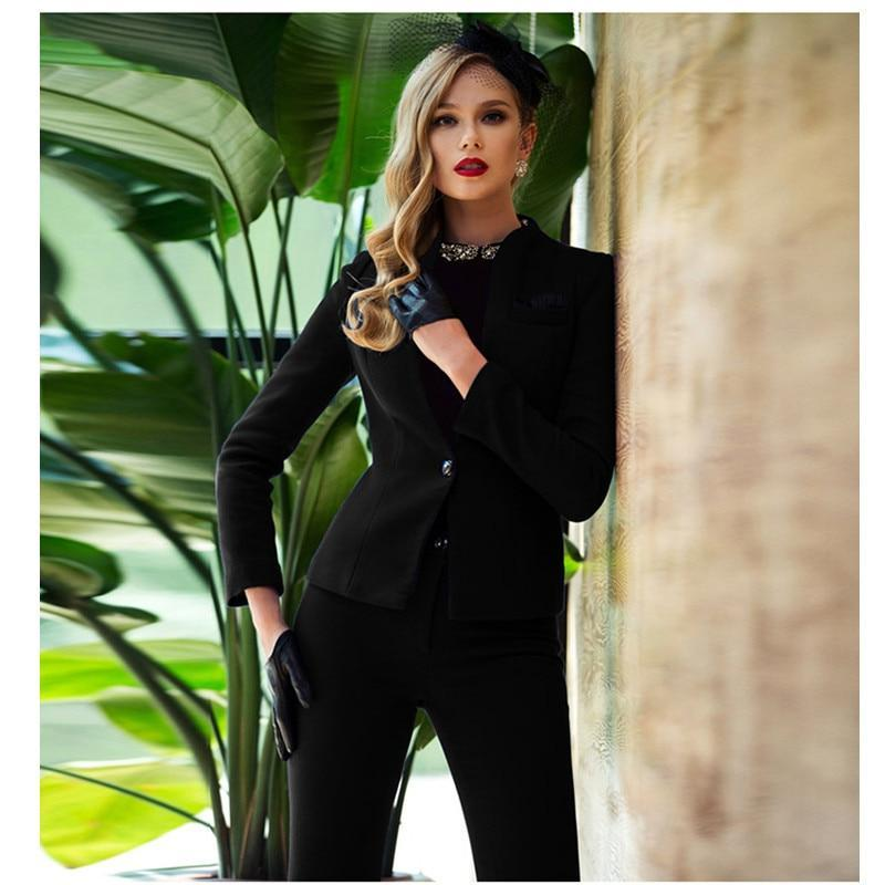 Pantalones mujer office uniform womens business suits formal style new women work wear suitwomen