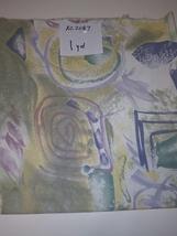 Swirl Shapes Print, Pastel Colors, 1 Yd (XC2087) - $2.00