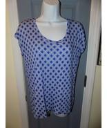Michael Kors Blue & White Cap Sleeve Size S Women's EUC - $44.00