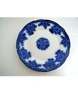"Flow Blue New Wharf Pottery Waldorf 9 3/4"" Plate England - $79.15"