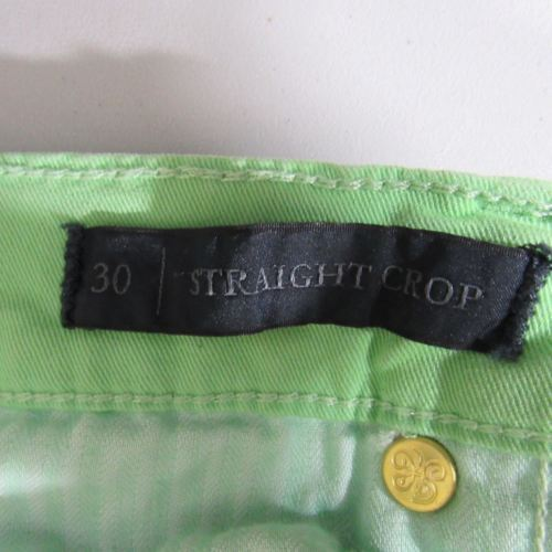 Juicy Couture Womens Jeans Size 30 Green Bleach Wash Pants image 6