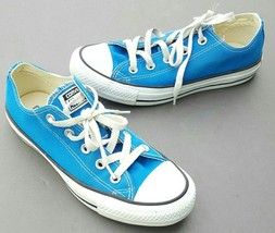 Converse Chuck Taylor Ox Low Blue All Star Tennis Shoes Men 4 Womens 6 - $30.40