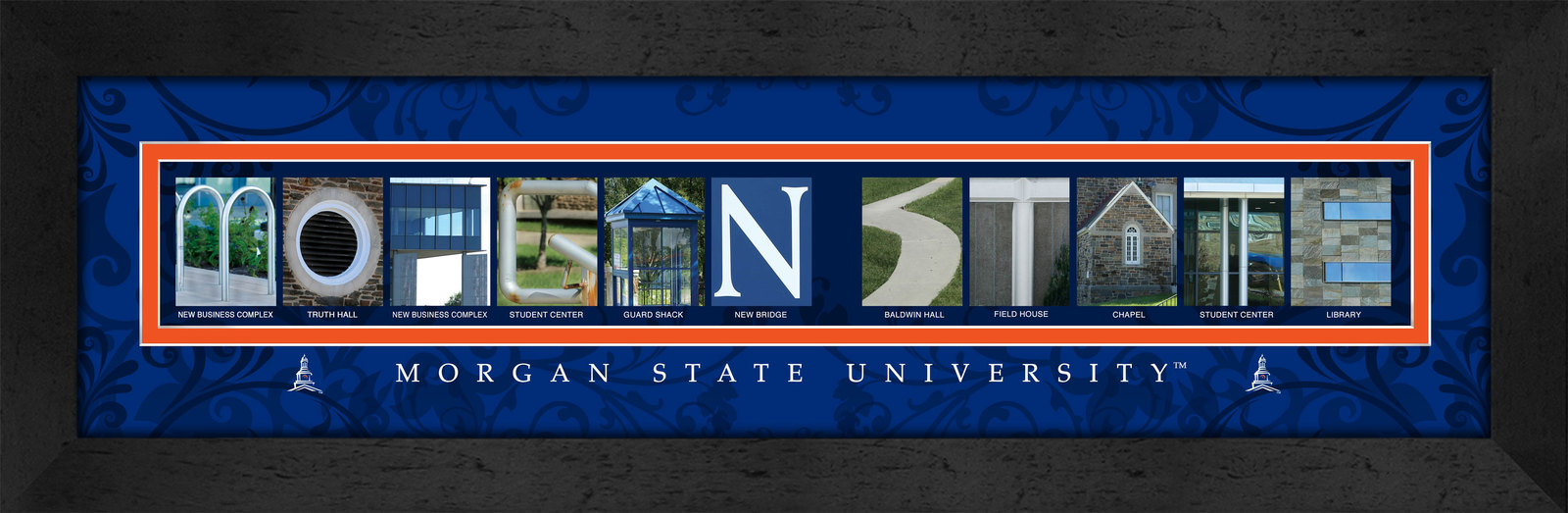Primary image for Morgan State University Officially Licensed Framed Campus Letter Art