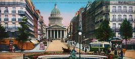 PARIS in 1900s Beautiful Chromotype Photo - Pantheon & Rue Soufflot Street - $25.20