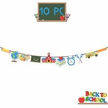 10 Pc Banners Kids Back to School Theme Party Apple Pencil New Grade Par... - $9.86