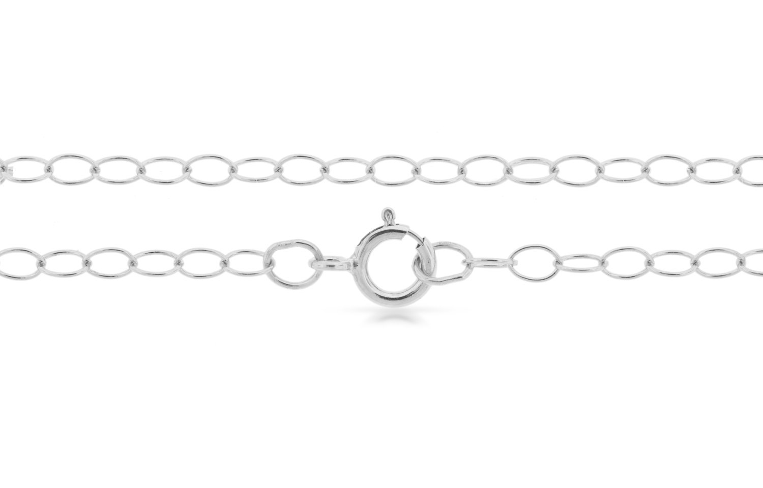 "Primary image for Chains, Cable Chain, 18"" With Clasp, Sterling Silver, 3x2mm, Pk Of 5pcs (4204)/5"