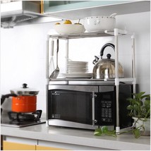 1Pcs Stainless Steel Adjustable Multifunctional Microwave Oven Shelf 60*... - $34.99