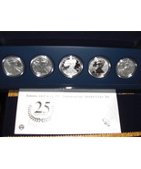2011 25th 5 Coin Anniversary Set of One Ounce Silver American Silver Eag... - $775.00