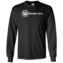 Beretta Script USA White Logo Long Sleeve Shirt 2nd Amendment Pro Gun Tee Rifle - $22.49+