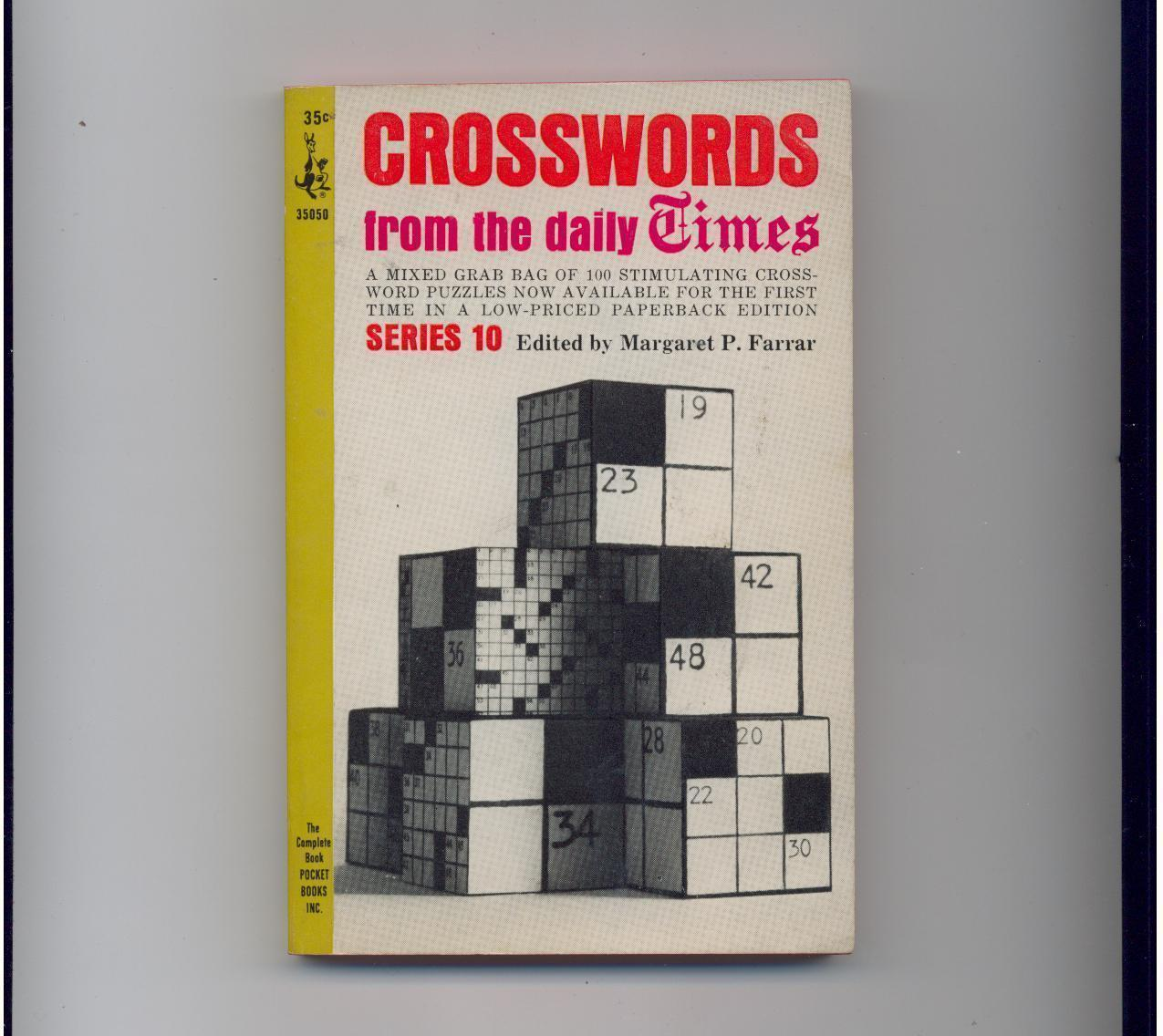 CROSSWORDS FROM DAILY TIMES - 1965 - scarce Pocket pb