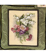 VICTORIAN VIGNETTE LILY OF VALLEY BOUQUET NEEDLEPOINT KIT - $40.00