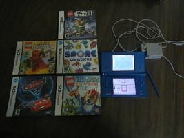 Nintendo DSi Gaming Handheld System 5 Games Lego Star Wars Cars Ninjago ... - $24.75
