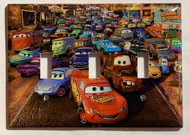 Cars Lightning McQueen Light Switch Power Outlet wall Cover Plate Home Decor image 7