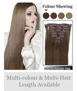 "20""Human Hair Straight Glamorous Clip in Hair Extensions Make Hair Longer - $49.00"