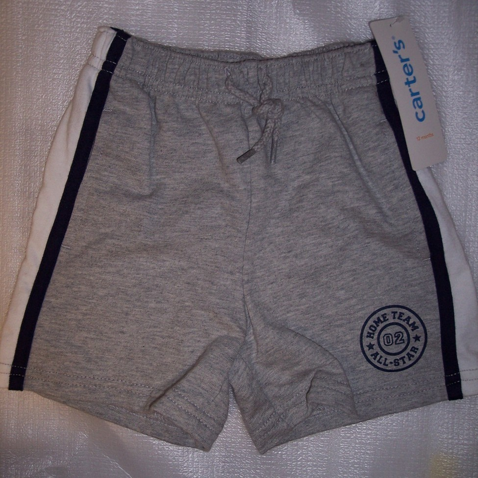 Boy's 12 Months Gray Carter's Shorts