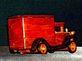 Wooden Toy Milk Truck AA19-1569 Vintage image 7