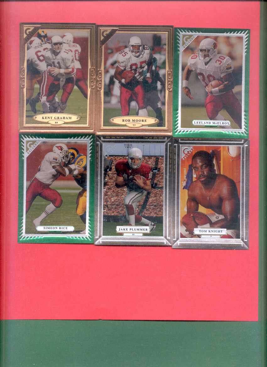 1997 Topps Gallery Arizona Cardinals Football Team Set