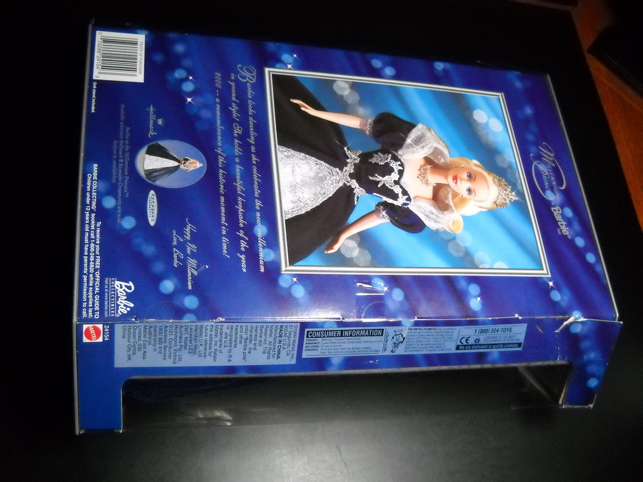 Barbie 1999 Millennium Princess Barbie Christmas Hallmark Ornament Mattel Sealed