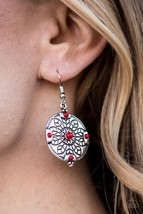 Second Spring - Red Earrings - $5.00