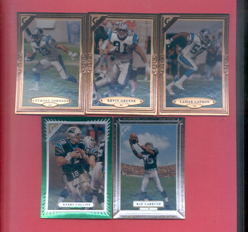 1997 Topps Gallery Carolina Panthers Football Team Set