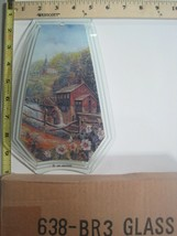 FREE US SHIP OK Touch Lamp Replacement Glass Panel Mill Farm Waterfall 6... - $9.75