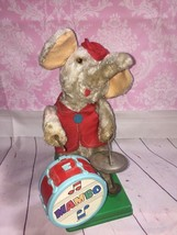 1950's MAMBO THE JOLLY DRUMMING ELEPHANT Rare! Broken! Stained! Trash! L... - $9.49