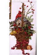 CARDINAL HOUSE WINTER BERRY BASKET CROSS STITCH KIT - $34.00