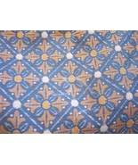 Blue & Gold Print Damask Fabric/Upholstery-1 Yd - $20.00