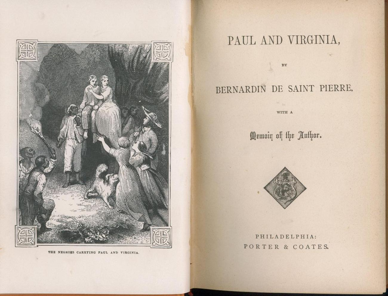 De Saint Pierre--PAUL AND VIRGINIA--1891-VERY NICE CONDITION