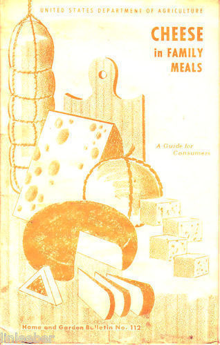 CHEESE IN FAMILY MEALS-USDA,1966-HOME&GARDEN BULLET#112