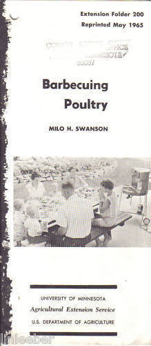 BARBECUING POULTRY,USDA,1965,#200;MILO H.SWANSON;Uof MN