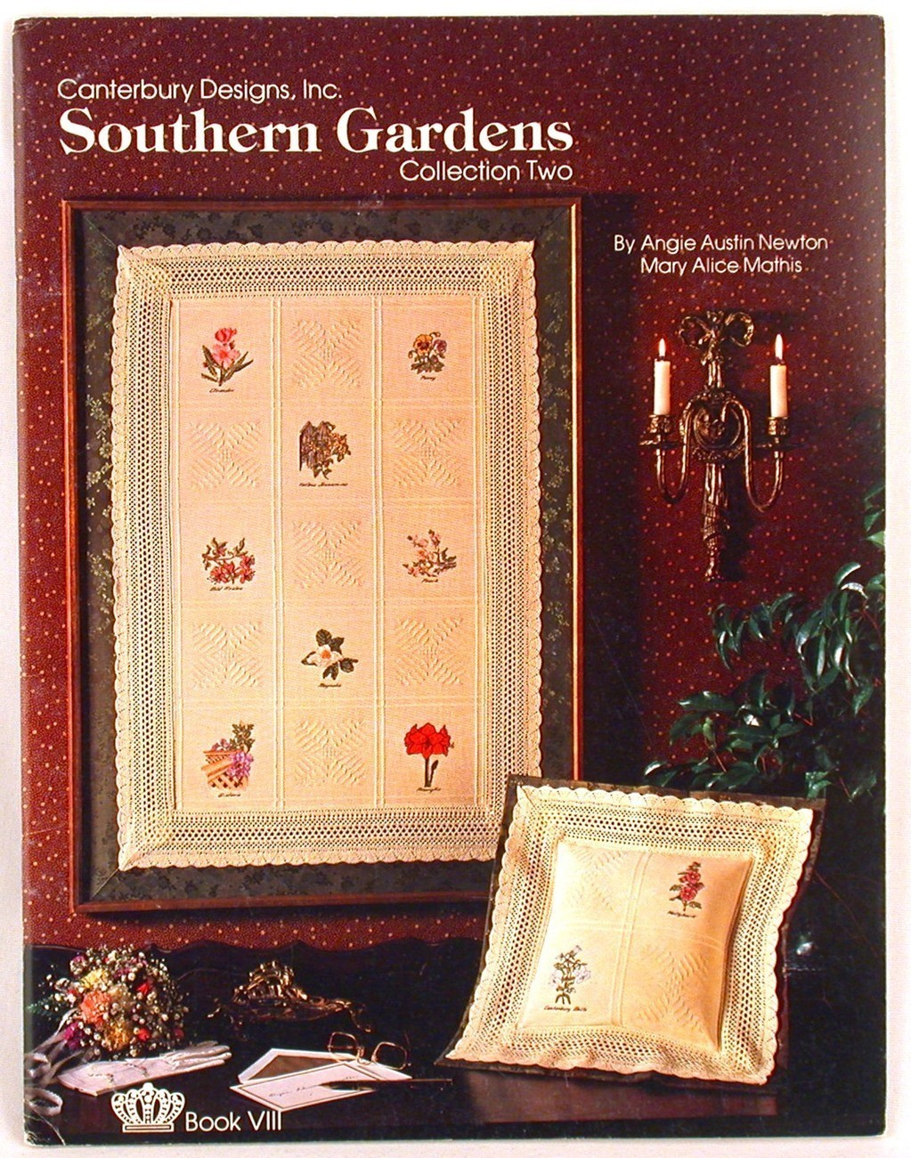 Southern Gardens Cross Stitch Patterns Canterbury Designs Angie Newton Floral