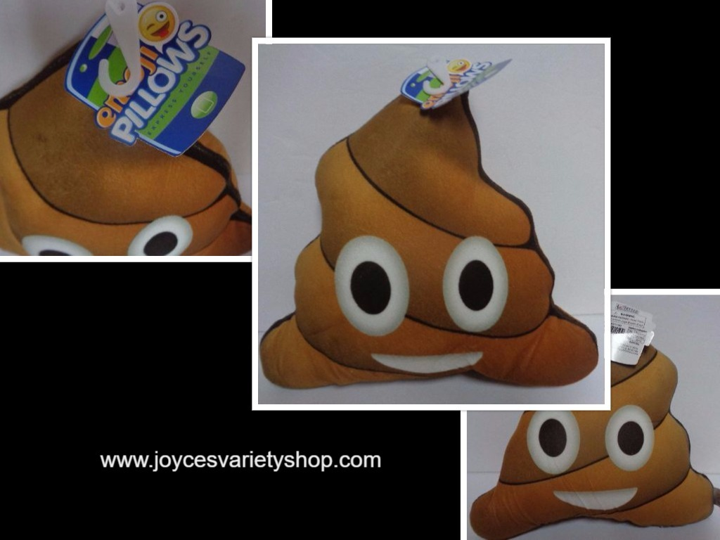 Primary image for Emoji Smiley Face Poopy Pillow NWT Free Shipping