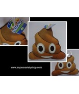 Emoji Smiley Face Poopy Pillow NWT Free Shipping - $9.99
