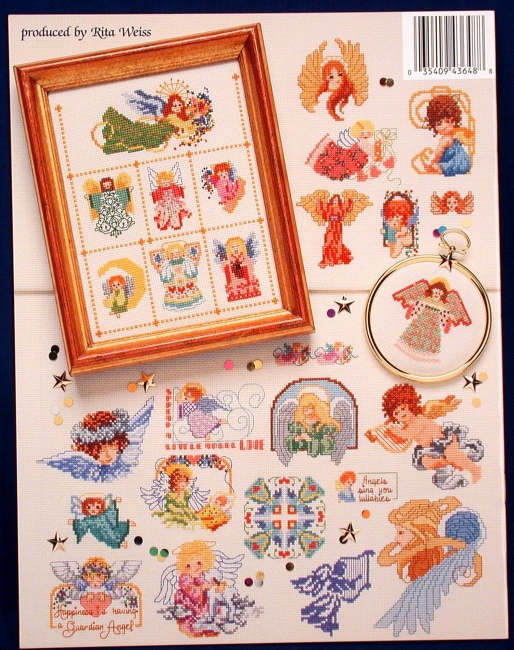 50 Angels Sam Hawkins Needlework Cross Stitch Patterns American School