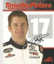 2010 TIMOTHY PETERS #17 CWTS NASCAR POSTCARD SIGNED - $10.95