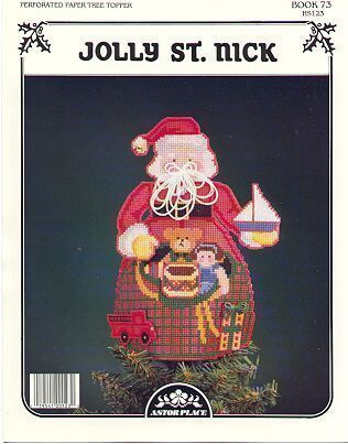Jolly St.Nick~Tree Topper PP Cross Stitch