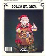 Jolly St.Nick~Tree Topper PP Cross Stitch - $4.00