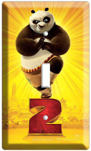 KUNG FU PANDA 2 DISNEY MOVIE T1 LIGHTSWITCH COVER PLATE